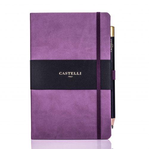 Purple Castelli Tucson Medium Ivory Notebook