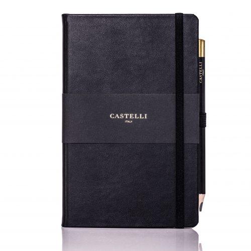 Black Cordoba Medium Leather Notebook