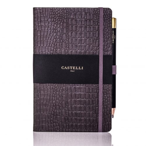 Grey Oceania Medium Notebook Flat