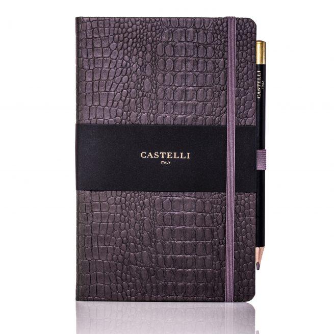 Grey Oceania Medium Notebook Flat