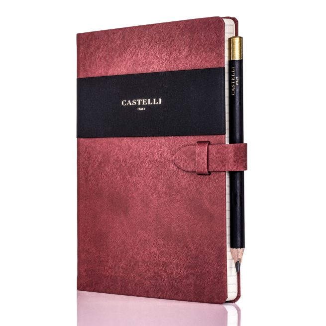 Red Mirabeau Medium Notebook Profile