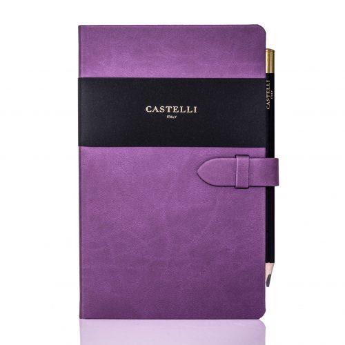 Purple Mirabeau Medium Notebook Flat