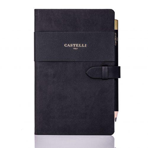 Graphite Mirabeau Medium Notebook Flat