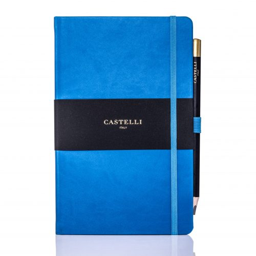 China Blue Castelli Tucson Medium Ivory Notebook