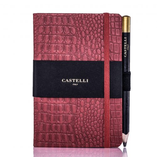 Red Oceania Pocket Notebook Flat