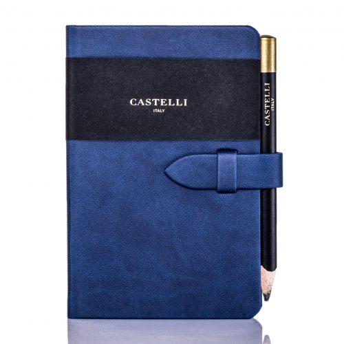 China Blue Mirabeau Pocket Notebook Flat
