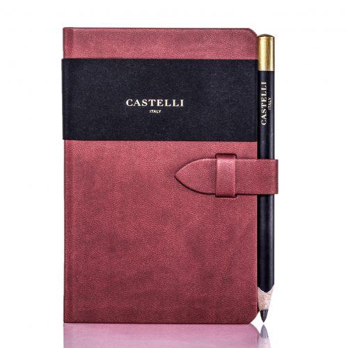 Red Mirabeau Pocket Notebook Flat