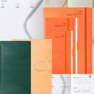 Orange, Green, Taupe