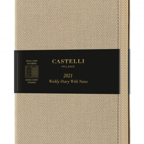 2021 A5 Medium Weekly Diary with Notes Harris Desert Sand - QM3_D9_918_8051166574333_MAIN