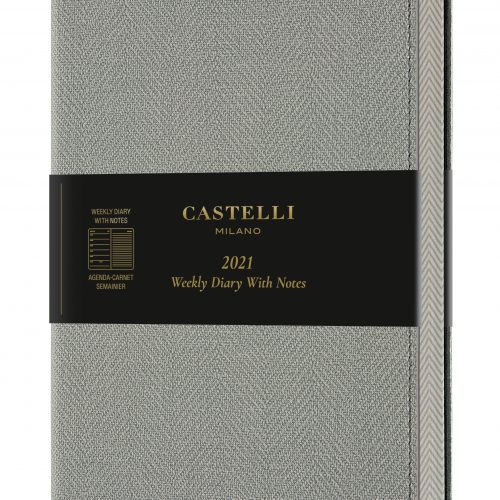 2021 A5 Medium Weekly Diary with Notes Harris Oyster Grey - QM3_D9_628_8051166574326_MAIN