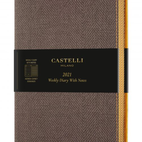 2021 A5 Medium Weekly Diary with Notes Harris Tobacco Brown - QM3_D9_384_8051166574289.MAIN