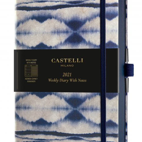 2021 A5 Medium Weekly Diary with Notes Shibori Mist - QM3_BM_004_8051166574272_MAIN