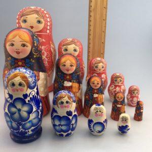 Artistic Nesting Russian Dolls